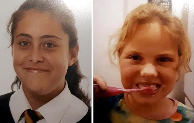 "Police say they are ""deeply concerned for both girls"" (SWNS)"