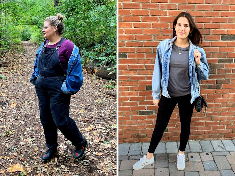 """Brittany and Danielle sporting comfy weekend outfits. (Photo: <a href=""""https://www.instagram.com/shilohnoelle/"""" target=""""_blank"""">Shiloh Gulickson</a>)"""