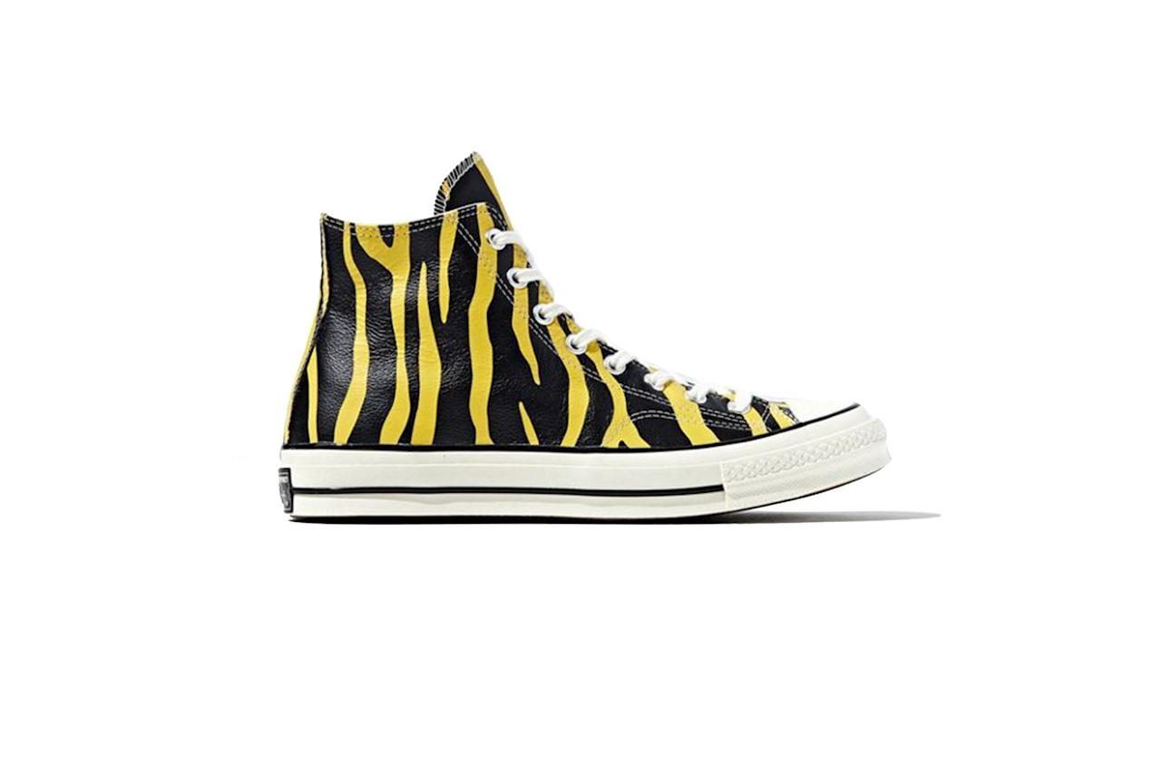 """$90, Urban Outfitters. <a href=""""https://www.urbanoutfitters.com/shop/converse-chuck-70-archive-print-leather-high-top-sneaker?category=mens-new-sale&color=072&type=REGULAR"""">Get it now!</a>"""