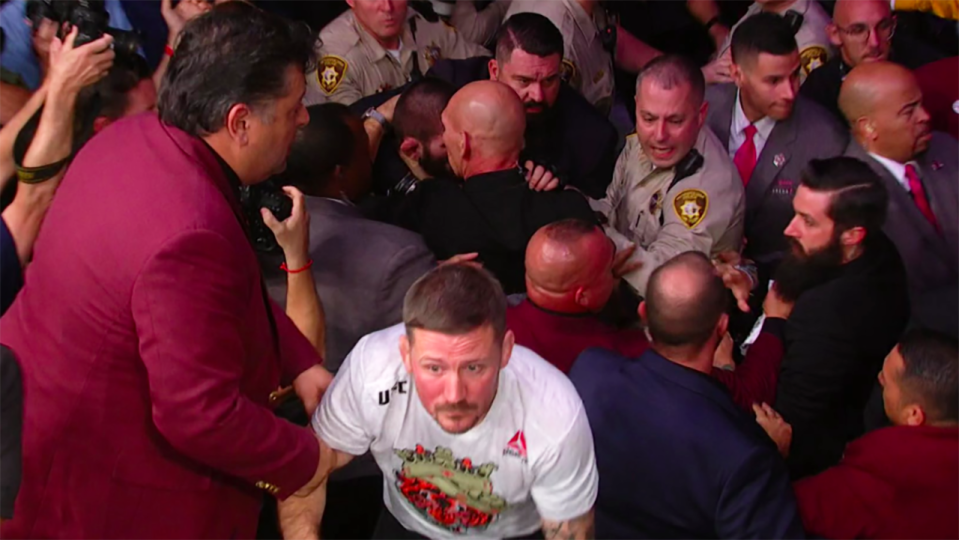 Absolute chaos. Image: UFC