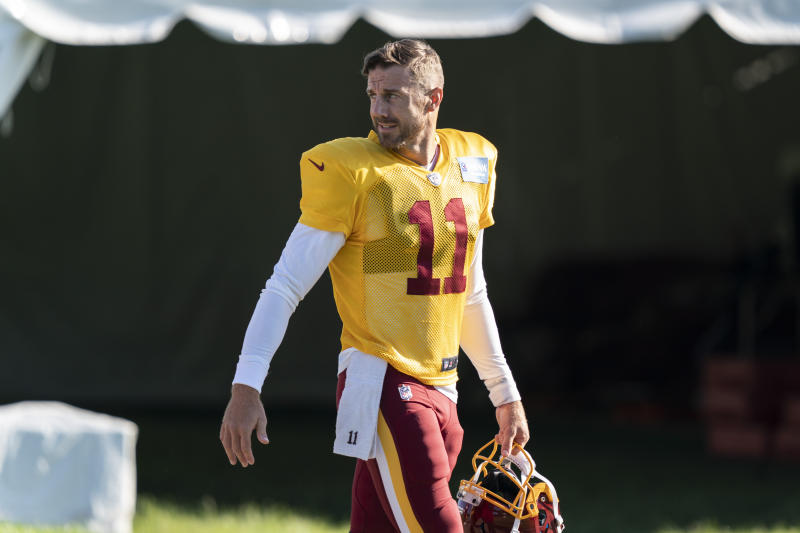 Alex Smith overcame a grueling rehab process to return to practice with Washington this week. (AP Photo/Alex Brandon)