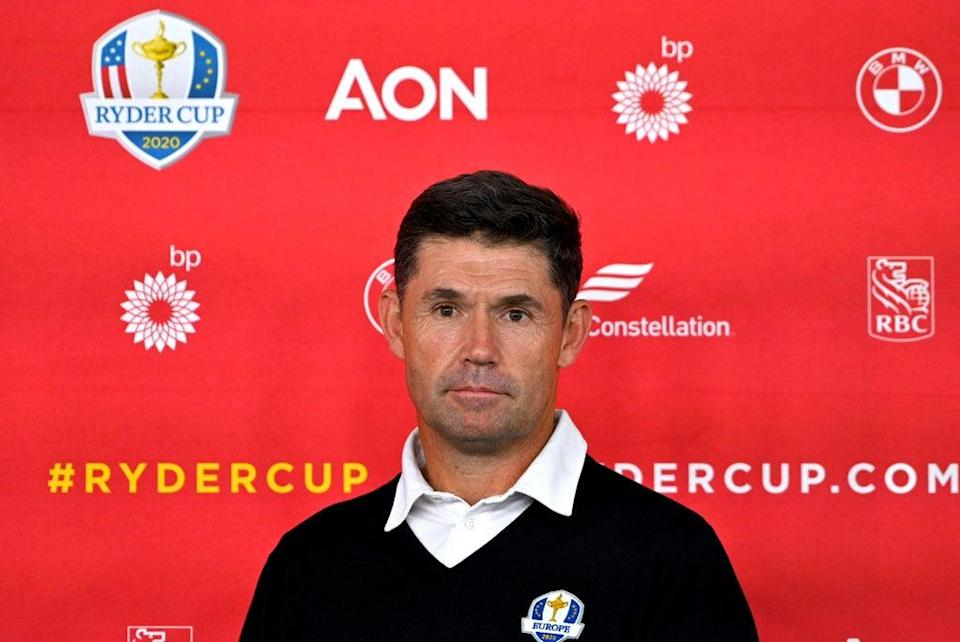 Padraig Harrington defended his decision to rest Rory McIlroy on day two of the 43rd Ryder Cup (Anthony Behar/PA) (PA Wire)