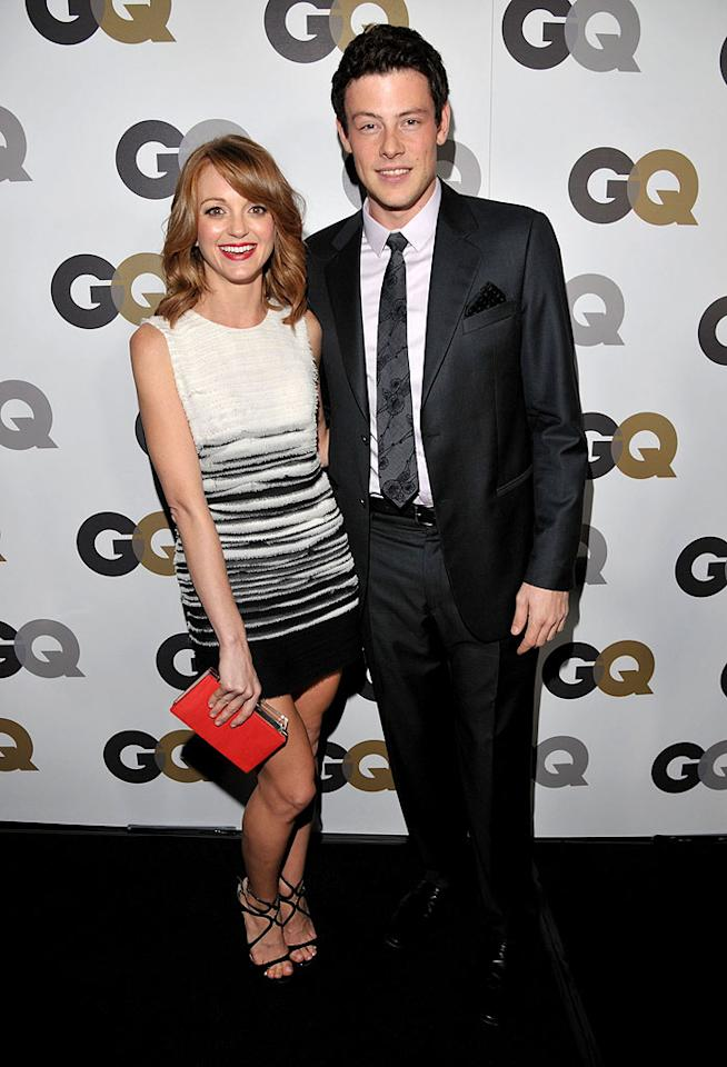 "An Armani-clad Cory Monteith hit the red carpet with his cute ""Glee"" co-star Jayma Mays. Although Jayma, 31, plays Cory's high school guidance counselor, she's only three years older than him! Lester Cohen/<a href=""http://www.gettyimages.com/"" target=""new"">GettyImages.com</a> - November 17, 2010"