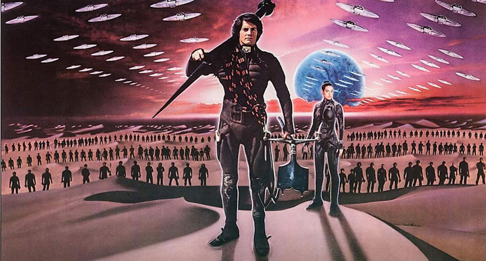 Kyle MacLachlan as Paul Atreides. From a poster for David Lynch's 1984 Dune.