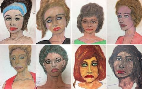 The FBI last year released a series of portraits of Little's victims, which he drew in prison