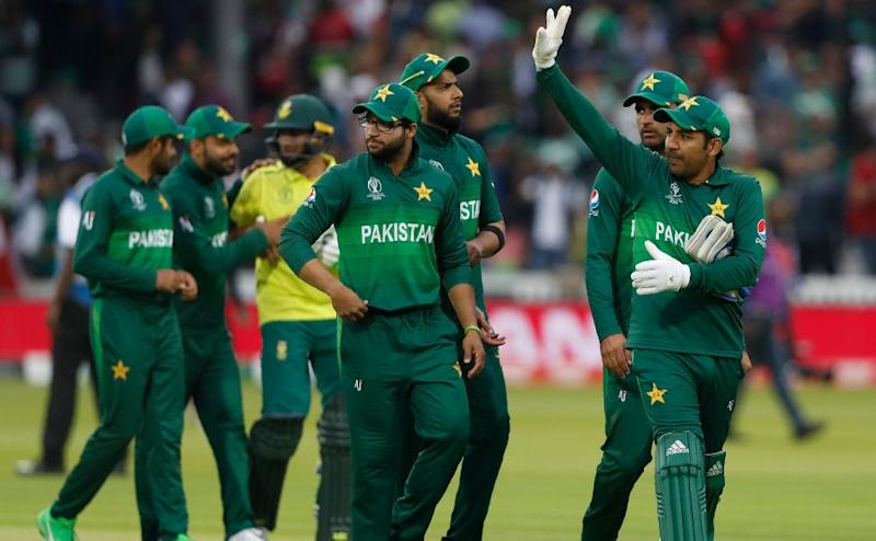 Pakistan keep their hopes of securing a spot in the semi-finals alive with a 49-run victory over South Africa. AP