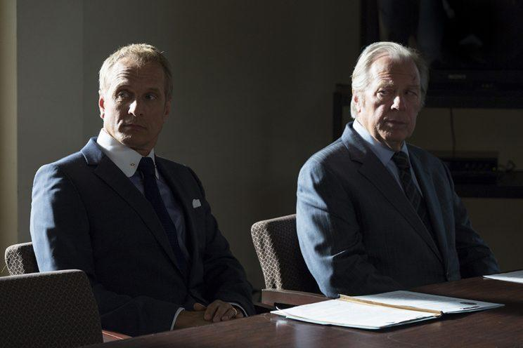 Patrick Fabian as Howard Hamlin and Michael McKean as Chuck McGill in AMC's Better Call Saul. (Photo: Michele K. Short/AMC/Sony Pictures Television)
