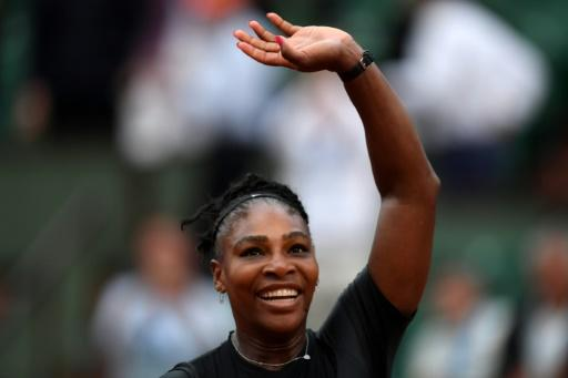 Comeback queen: Serena Williams celebrates after victory over Ashleigh Barty