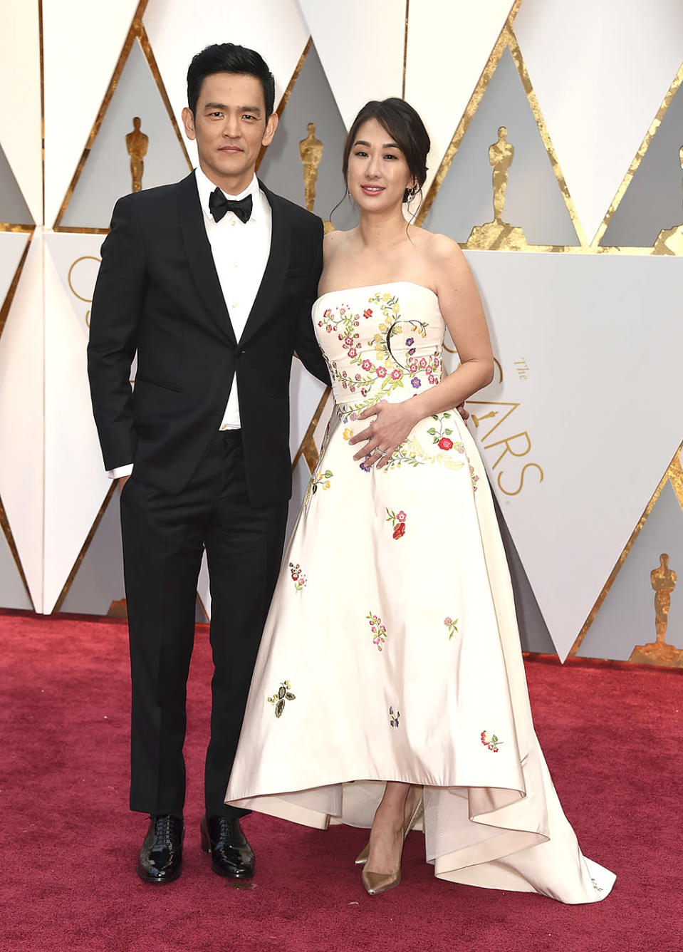 <p>John Cho and Kerri Higuchi arrive at the Oscars on Feb. 26, 2017, at the Dolby Theatre in Los Angeles. (Photo by Jordan Strauss/Invision/AP) </p>