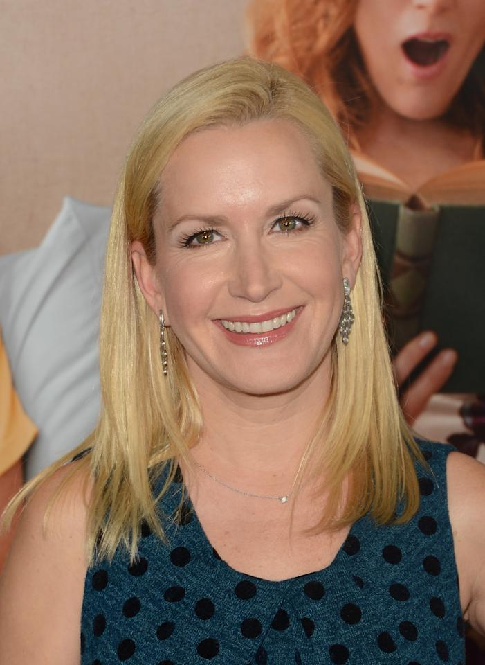 HOLLYWOOD, CA - DECEMBER 12:  Actress Angela Kinsey  attends the premiere of Universal Pictures' 'This Is 40' at Grauman's Chinese Theatre on December 12, 2012 in Hollywood, California.  (Photo by Jason Merritt/Getty Images)
