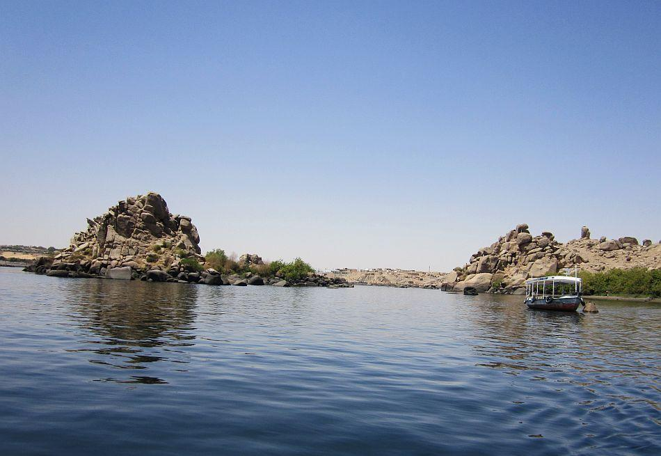 Ferrying across Lake Nasser to the Phillae Temple