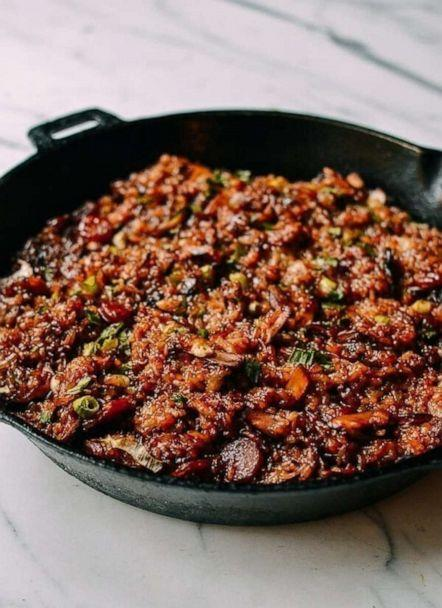 PHOTO: Sticky rice stuffing with Chinese sausage is a great Thanksgiving side dish. (The Woks of Life)