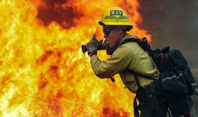California wildfire 'started by baby gender reveal party firework', fire service says