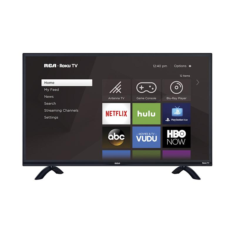 This RCA 4K TV comes with a built-in Roku video streaming device. (Photo: Walmart)