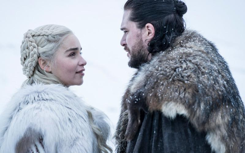 Emilia Clarke and Kit Harington in season 8 of Game of Thrones - ©2019 Home Box Office, Inc. All rights reserved. HBO® and all related programs are the propert