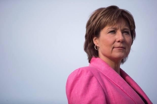 Christy Clark, shown in 2016, is the first of several present and past politicians to appear this month before the Cullen Commission, which is investigating the causes and impact of B.C.'s money-laundering problem over the past decade. Clark was B.C.'s premier from 2011 to 2017. (Darryl Dyck/The Canadian Press - image credit)