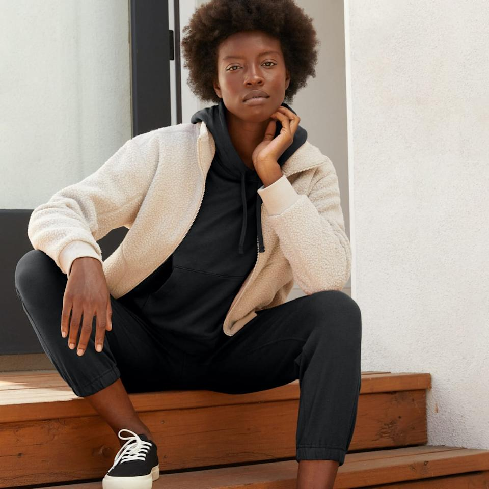 The Lightweight French Terry Jogger. (Image via Everlane)