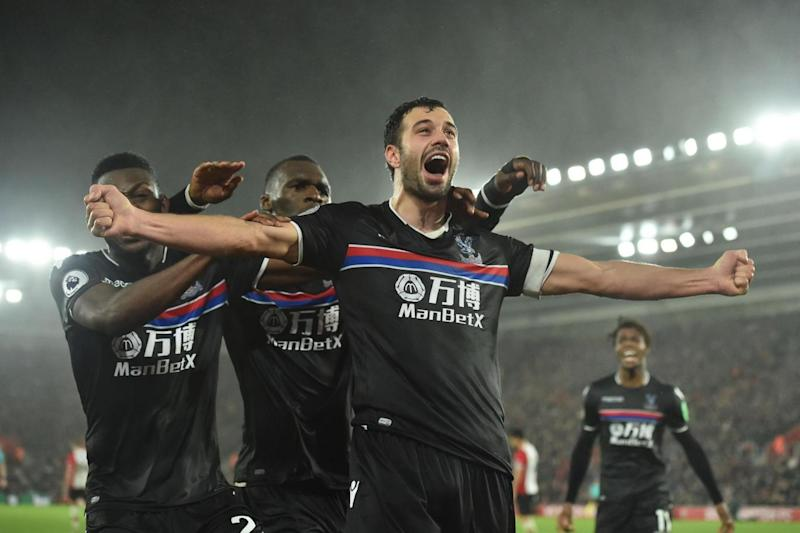 Milivojevic celebrates after scoring the winner at St. Mary's (AFP/Getty Images)