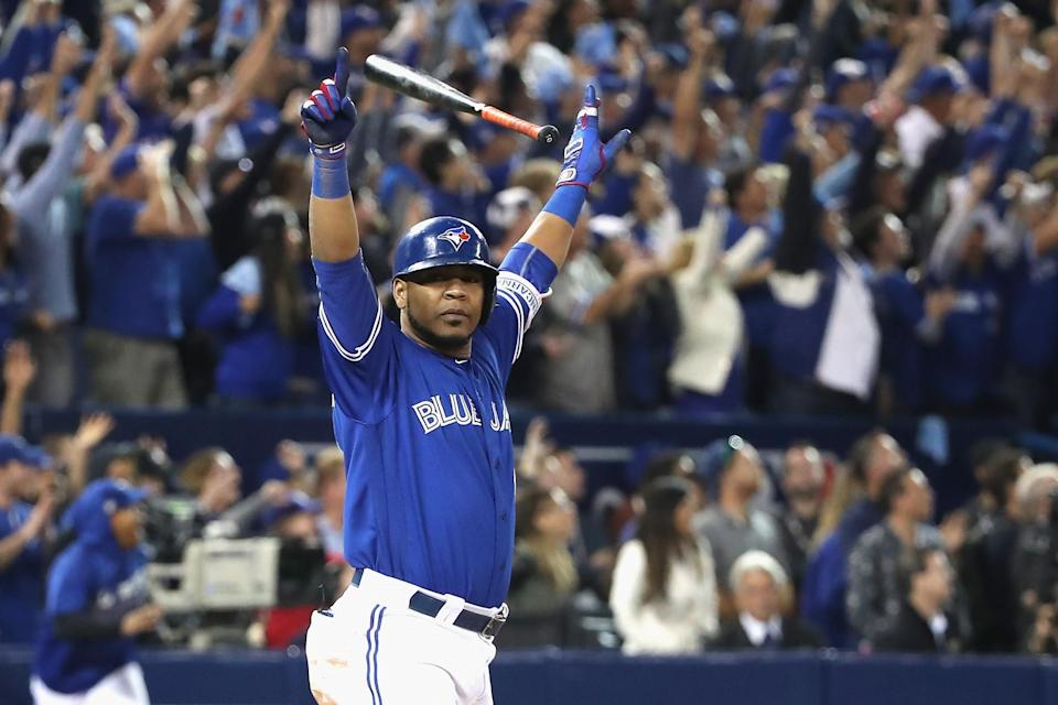 The Blue Jays are headed to the ALDS after Edwin Encarnacion's walk-off homer. (Getty Images)