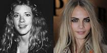 <p>Both Cara Delevingne and Stevie Nicks exude a rocker chic energy that's undeniable, but the two also share the same round button nose.</p>