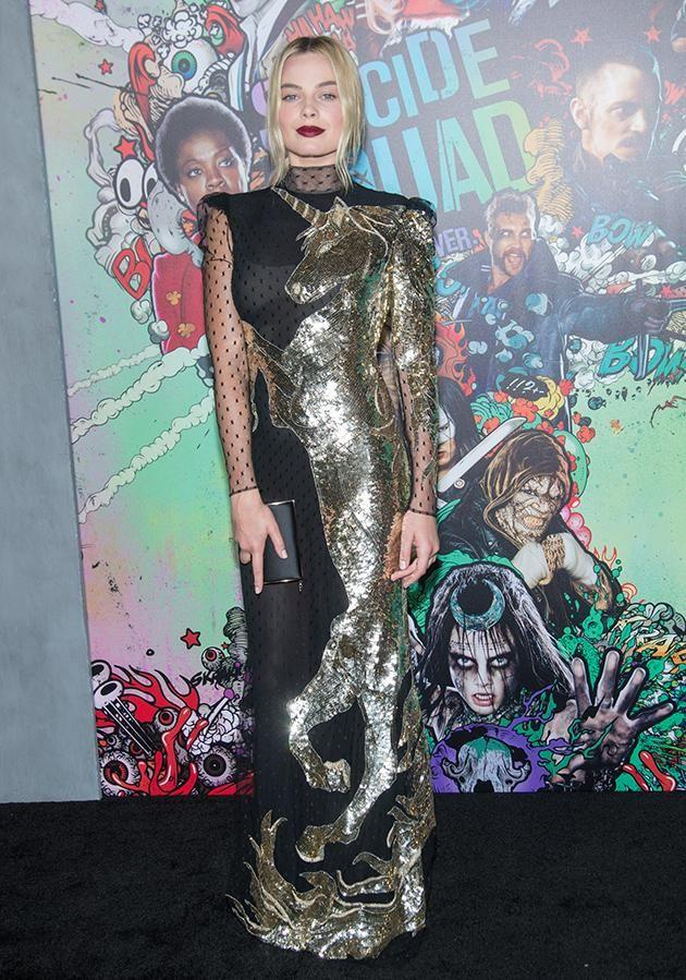 The star totally owned the red carpet in this quirky number.
