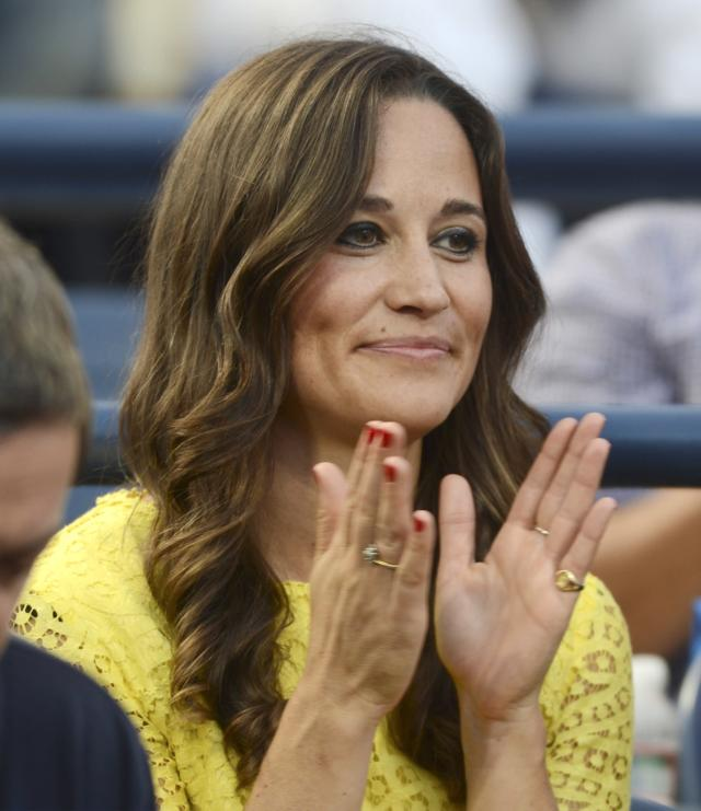 Pippa Middleton, sister of Kate Middleton, watches Britain's Andy Murray play Marin Cilic, of Croatia, in the quarterfinals of the 2012 US Open tennis tournament, Wednesday, Sept. 5, 2012, in New York. (AP Photo/Henny Ray Abrams)