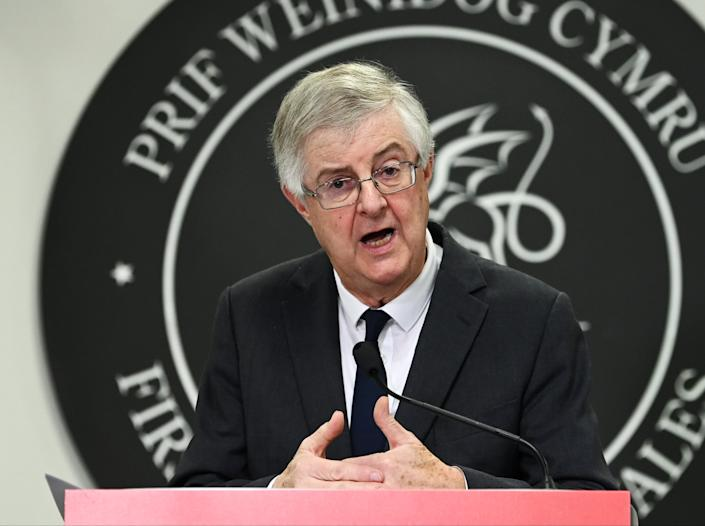 First Minister of Wales Mark Drakeford speaks during a press conference in October (Getty Images)