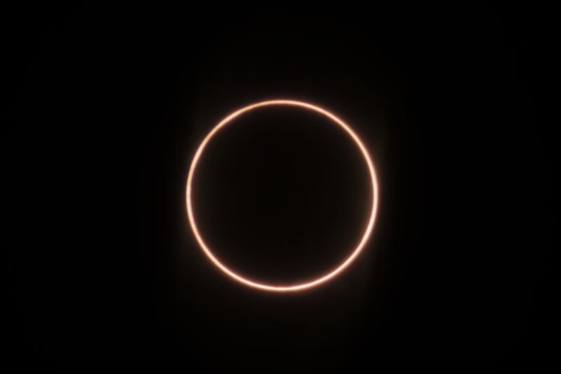 XIAMEN, CHINA - JUNE 21: The annular solar eclipse is seen on June 21, 2020 in Xiamen, Fujian Province of China. (Photo by Huang Shan/VCG via Getty Images)