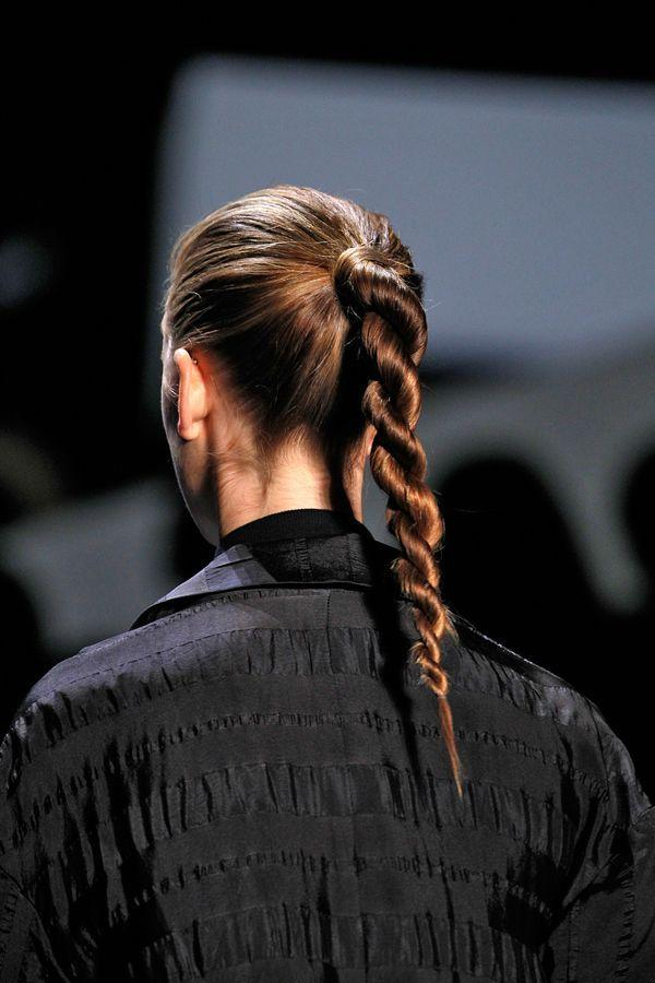 "<p>Love Public School's modern pony? Follow hairstylist Allen Ruiz's lead and finish your <a href=""http://www.refinery29.com/rope-braid-hair-tutorial?utm_source=yahoobeauty&utm_medium=syndication&utm_campaign=main"">rope braid</a> with a healthy spritz of shine spray (MCV Photo). <b>Related: <i><a href=""http://www.refinery29.com/perfect-plank-push-up-position?utm_source=yahoobeauty&utm_medium=syndication&utm_campaign=related"">The Secret To The Perfect Plank</a></i></b></p>"