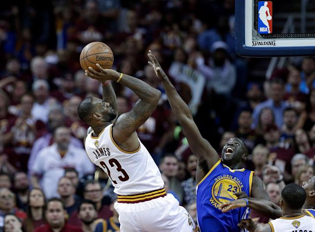 Draymond Green has faced LeBron James in the Finals in the last four years. (AP Photo/Tony Dejak)