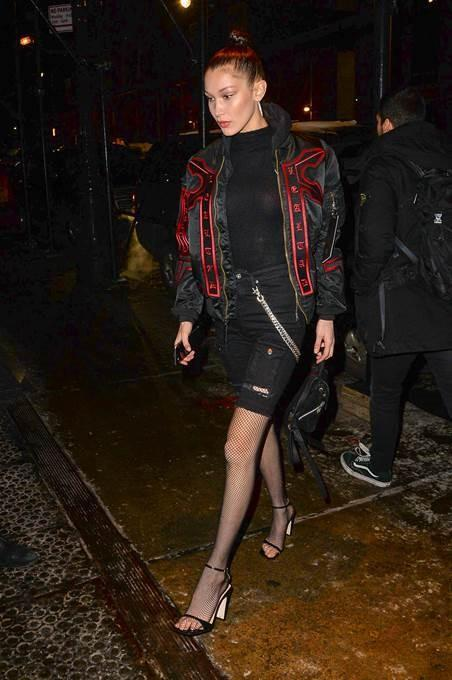 Bella Hadid wearing Sergio Rossi shoes. (Photo: Getty Images)