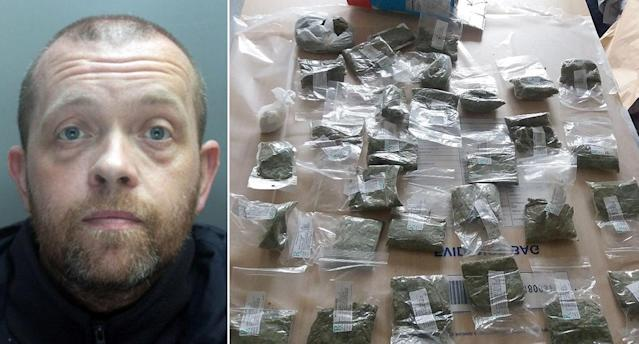 Members of the Liverpool Crown Court heard that officers found the stash when they searched his bag (Merseyside Police/PA)