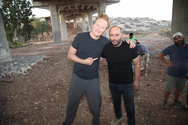<p>Had a great time shooting a scene in one of my favorite shows #Fauda. #ConanIsrael (Photo: Conan O'Brien via Twitter) </p>