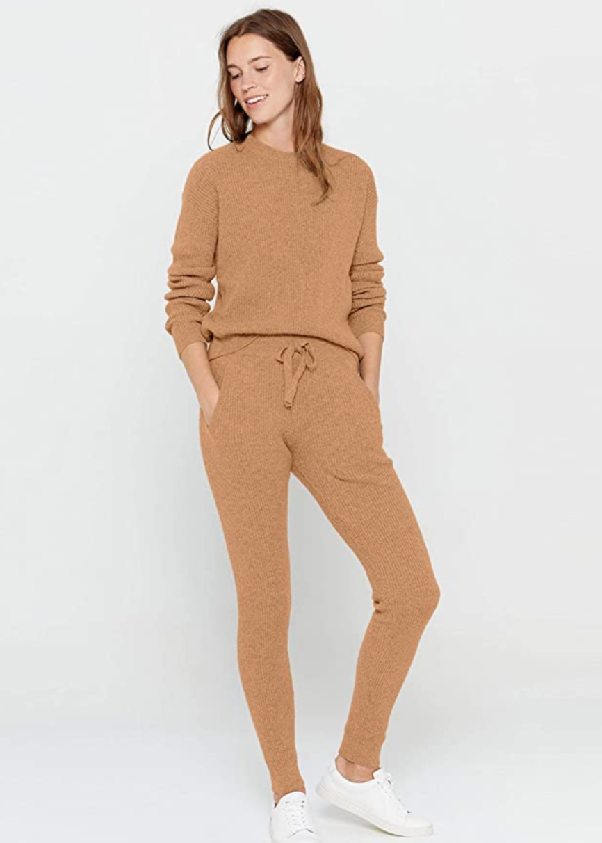 "<br> <br> <strong>State Cashmere</strong> 100% Pure Cashmere Knitted Loungewear, $, available at <a href=""https://amzn.to/2W8tLmq"" rel=""nofollow noopener"" target=""_blank"" data-ylk=""slk:Amazon"" class=""link rapid-noclick-resp"">Amazon</a> <br> <br> <strong>State Cashmere</strong> 100% Pure Cashmere Knitted Pants, $, available at <a href=""https://amzn.to/3ftQS2v"" rel=""nofollow noopener"" target=""_blank"" data-ylk=""slk:Amazon"" class=""link rapid-noclick-resp"">Amazon</a>"