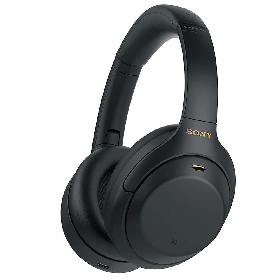 """<p><strong>Sony</strong></p><p>amazon.com</p><p><strong>$278.00</strong></p><p><a href=""""https://www.amazon.com/dp/B0863TXGM3?tag=syn-yahoo-20&ascsubtag=%5Bartid%7C2089.g.3395%5Bsrc%7Cyahoo-us"""" rel=""""nofollow noopener"""" target=""""_blank"""" data-ylk=""""slk:Shop Now"""" class=""""link rapid-noclick-resp"""">Shop Now</a></p><p>We know these Sony headphones are on the pricier side, but trust us when we tell you it's worth it. They have industry-leading sound and noise-canceling technology. The battery life is top-notch, and they are extremely comfy. Trust us, you <a href=""""https://www.bestproducts.com/tech/electronics/a14532098/reviews-best-wireless-headphones-at-every-price/"""" rel=""""nofollow noopener"""" target=""""_blank"""" data-ylk=""""slk:won't want to take them off"""" class=""""link rapid-noclick-resp"""">won't want to take them off</a>.</p>"""
