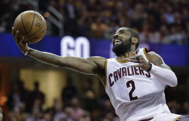 Kyrie Irving stretches for a lay-up in Game 4 of the Eastern Conference Finals. (AP)