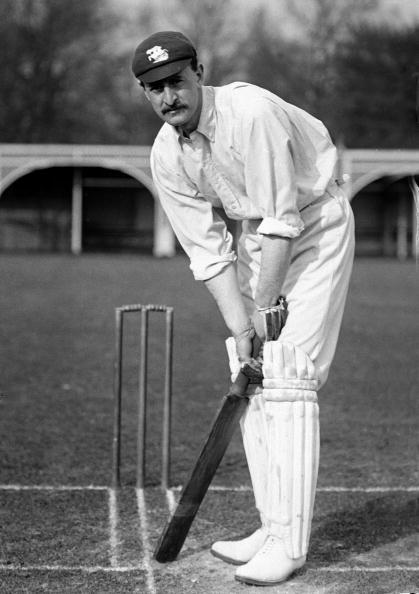 Reginald Erskine Foster, Worcestershire and England, circa 1905. (Photo by George Beldam/Popperfoto/Getty Images)