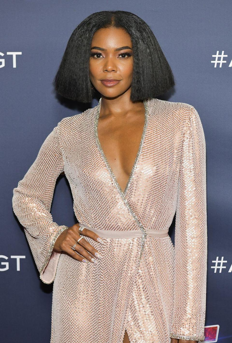 <p>Channel your inner Cleopatra and try out a chin-length blunt bob next time you need a change. The style leaves room to play—wear it down or pulled back with pins, curly or straight. We love the look on Gabrielle Union.</p>