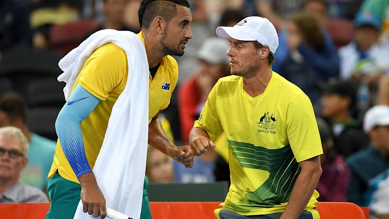 Lleyton Hewitt accuses Bernard Tomic of physical threats in Davis Cup row