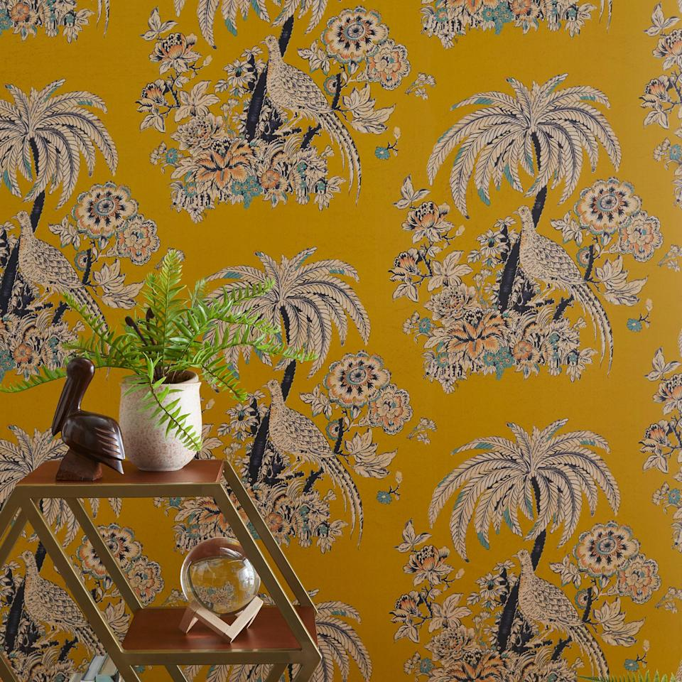 Tropical Toile Peel and Stick Wallpaper by Drew Barrymore Flower Home