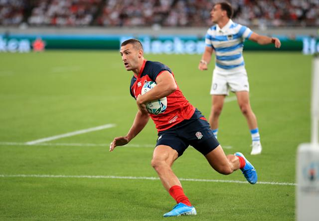 Jonny May opened the scoring for England on a positive night. (Photo by Adam Davy/PA Images via Getty Images)
