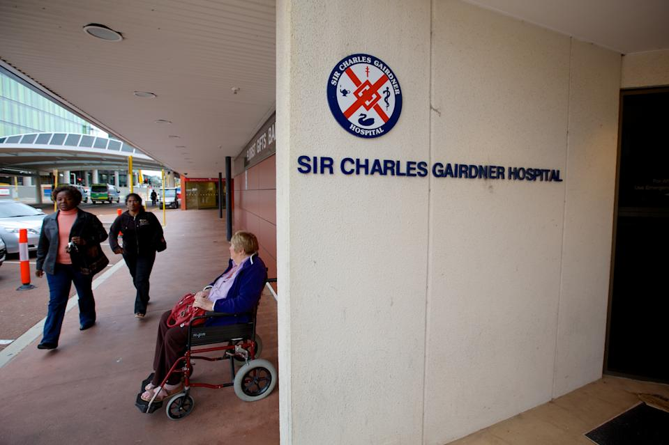 The man was being kept in isolation at Sir Charles Gairdner Hospital before he died early Sunday morning. Source: AAP