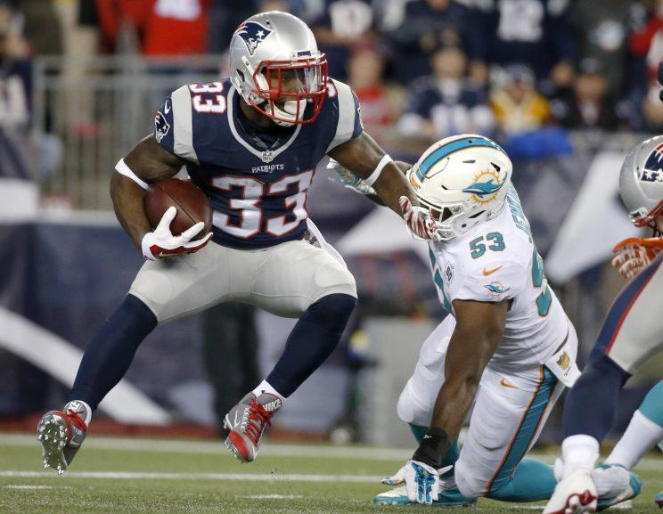premium selection 2a5cb 6d700 Report says Patriots RB Dion Lewis needs another knee surgery