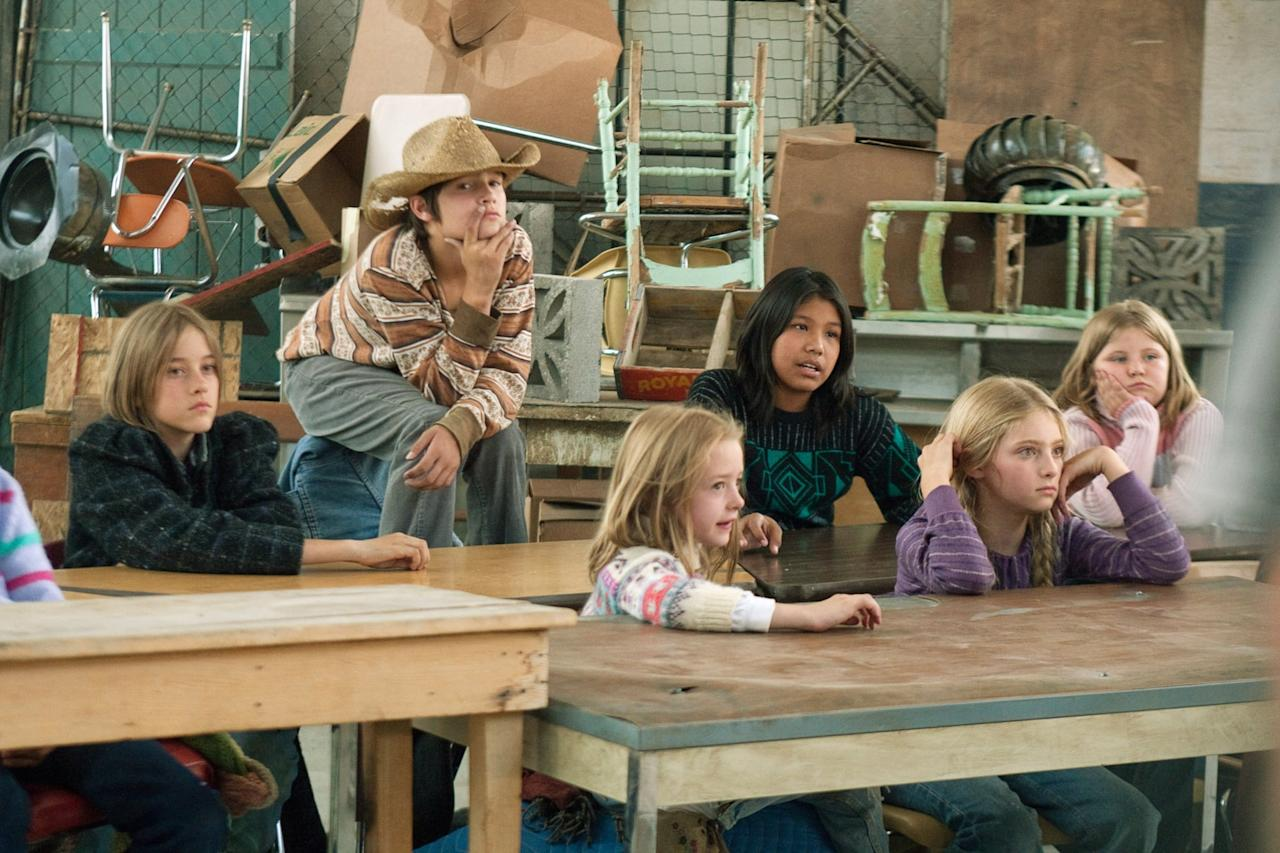 <p>In this 2011 TV movie, Shields played Grace, one of the students taught at a makeshift school at a homeless shelter. She acted alongside her older brother, River (pictured here, far left).</p>