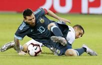A soccer fan who adores Lionel Messi (L), 'El Presidente' creator Armando Bo admits it can be painful to look behind the curtain at the greed and corruption rampant in the world's most popular sport