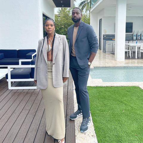 """<p>A knit maxi skirt checks all the boxes: chic, cozy, cool, and a great base for everything from a T-shirt to a blazer, and according to Gabrielle Union, a bikini top too. </p><p><a href=""""https://www.instagram.com/p/CMQi0HFFnDF/?utm_source=ig_embed&utm_campaign=loading"""" rel=""""nofollow noopener"""" target=""""_blank"""" data-ylk=""""slk:See the original post on Instagram"""" class=""""link rapid-noclick-resp"""">See the original post on Instagram</a></p>"""