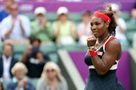 Two-time Olympic gold medalist, Serena Williams, has certainly made a name for herself with her stunning style and curvy figure. The five times Wimbledon Ladies Champion has attracted some of the hottest men in Hollywood her knockout body and warm personality. (Photo by Clive Brunskill/Getty Images)