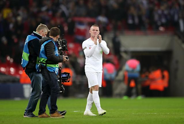 Rooney applauds the England fans for one last time (Nick Potts/PA)