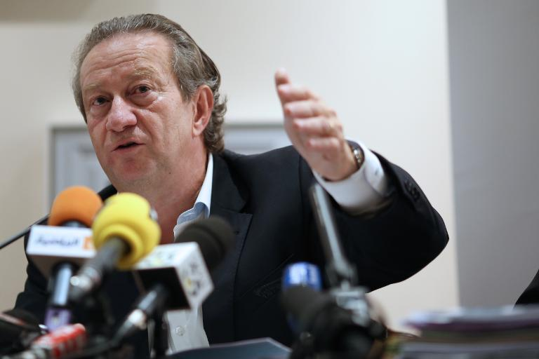 President of the French professional clubs union (UCPF) Jean-Pierre Louvel pictured during a press conference in Paris on October 24, 2013