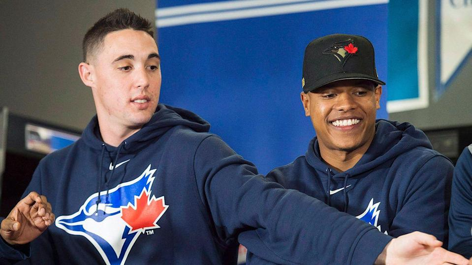 Sanchez, left, and Stroman could be on new teams by the end of the season. (Nathan Denette/CP)